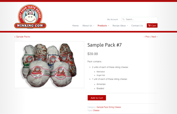 Winking Cow Sample Pack #7