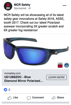 product facebook ad
