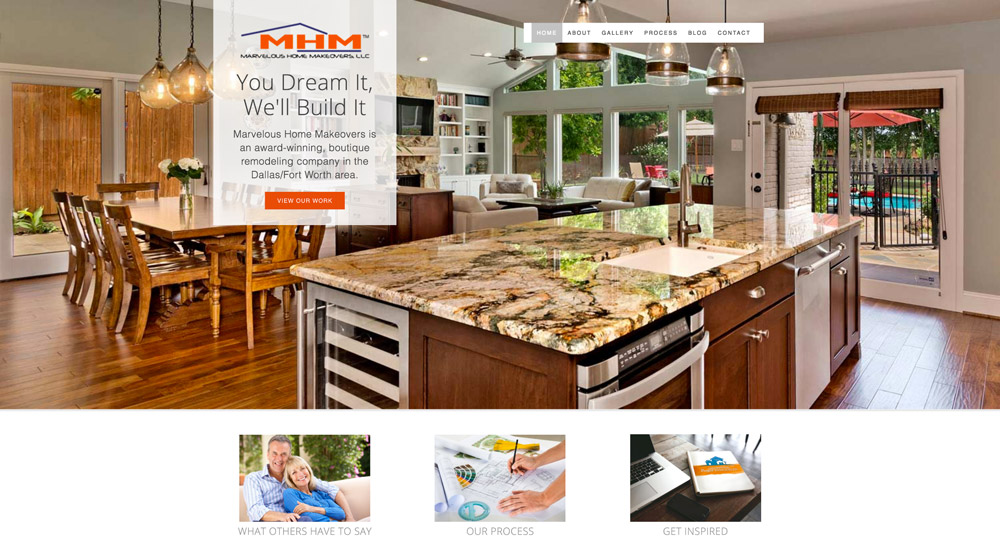 Marvelous Home Makeovers home page
